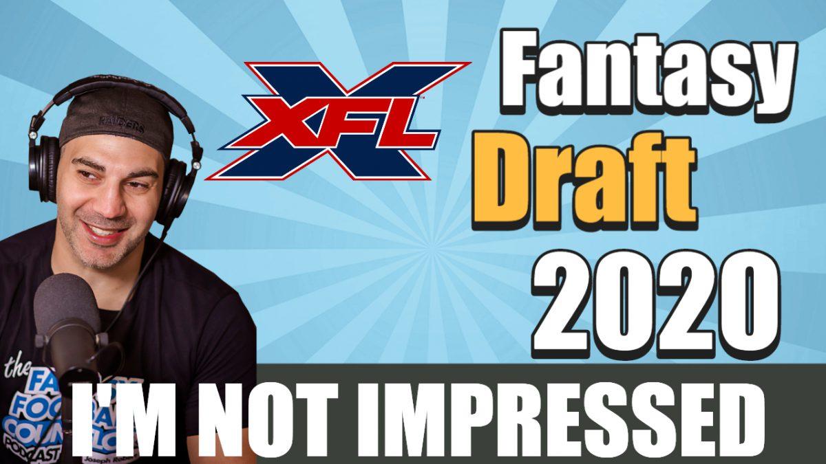 XFL Fantasy Draft 2020