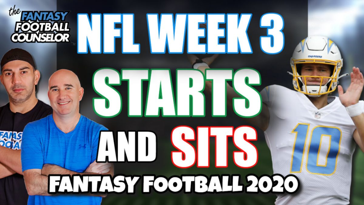 NFL Week 3 Starts and sits