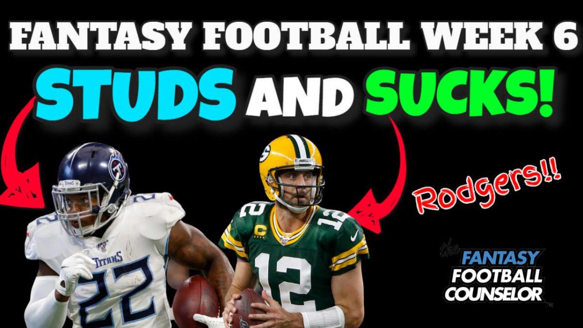 NFL Week 6 Studs and Sucks