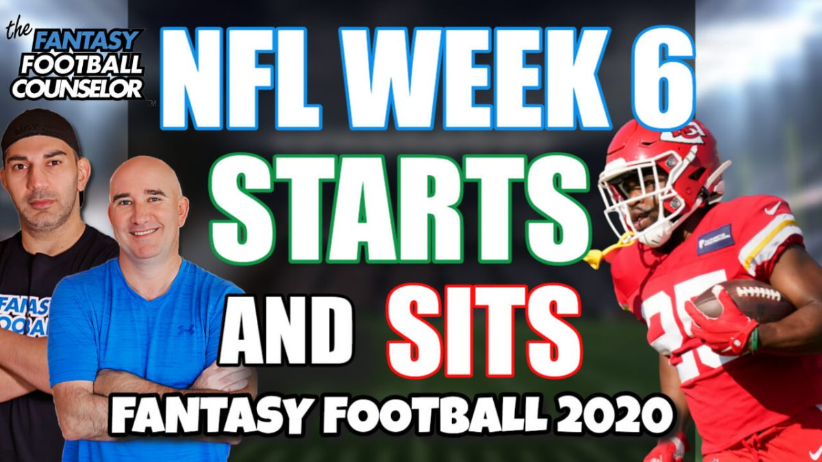 NFL Week 6 Starts and Sits