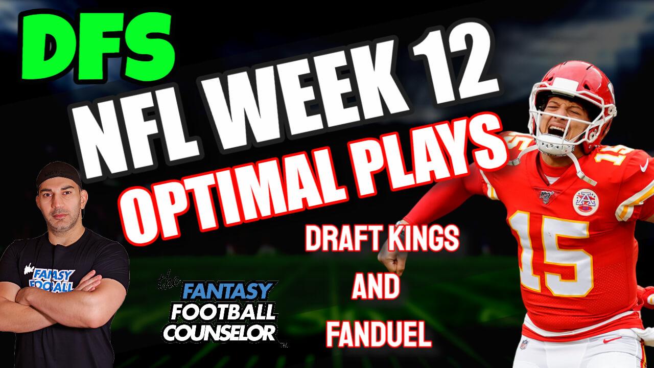 DFS Week 12 Fantasy Football