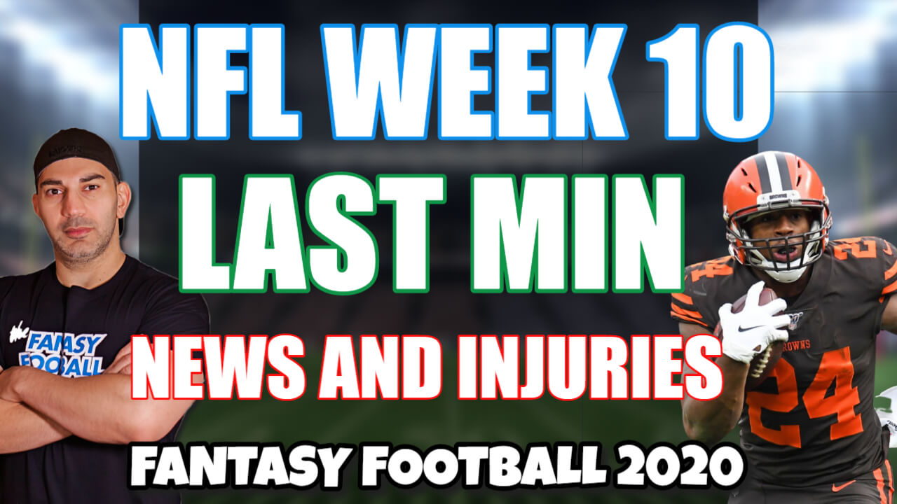 NFL Week 10 News