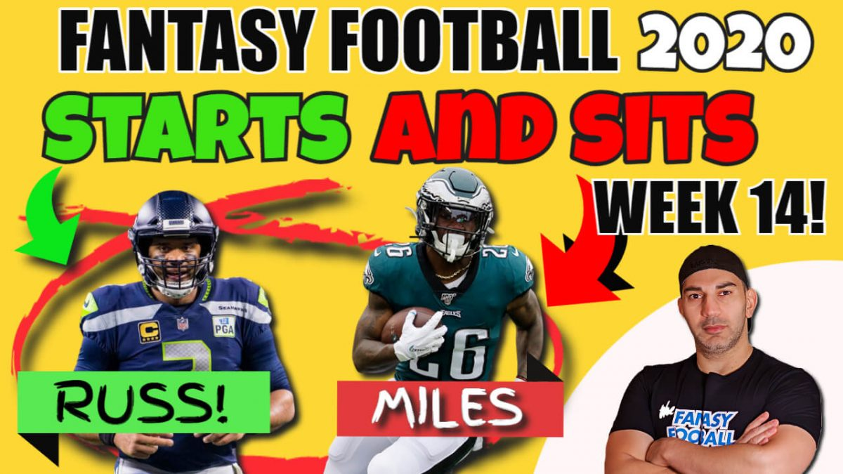 Starts and Sits NFL week 14
