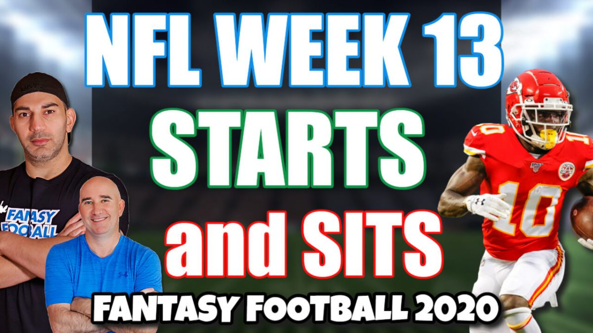 Starts and Sits NFL Week 13