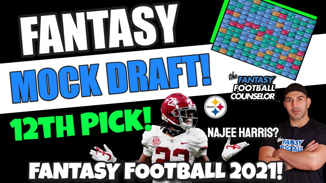 Fantasy Football Mock Draft 12th pick