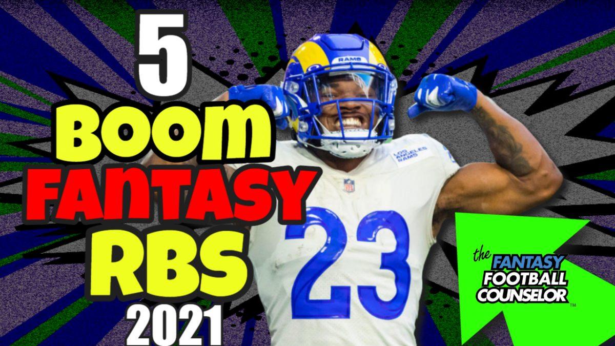 5 Boom Fantasy Football Rbs 2021